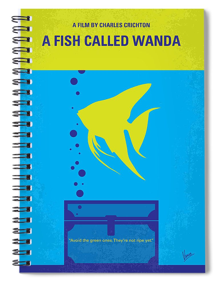 Fish Spiral Notebook featuring the digital art No389 My A Fish Called Wanda minimal movie poster by Chungkong Art