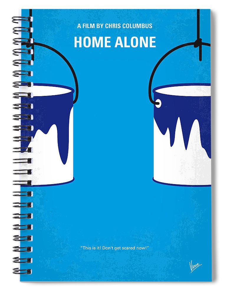 Home Spiral Notebook featuring the digital art No427 My Home alone minimal movie poster by Chungkong Art