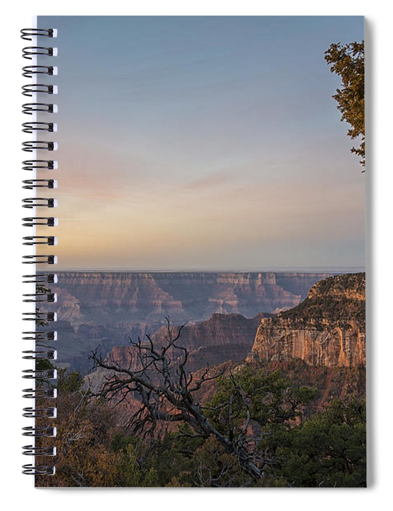 North Rim Sunrise Grand Canyon National Park Arizona Az Spiral Notebook featuring the photograph North Rim Sunrise 1 - Grand Canyon National Park - Arizona by Brian Harig