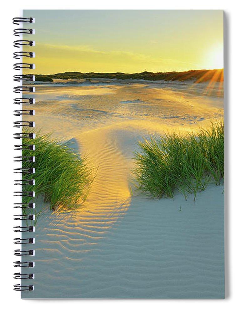 Scenics Spiral Notebook featuring the photograph North Sea Sandbank Kniepsand by Raimund Linke
