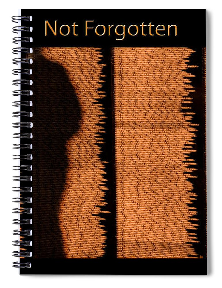 Veterans Spiral Notebook featuring the photograph Not Forgotten by Carolyn Marshall