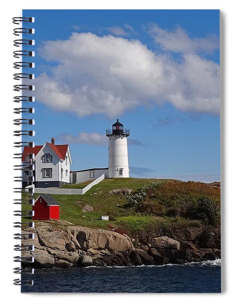 Tranquility Spiral Notebook featuring the photograph Nubble Lighthouse by Photo Jacques Trempe