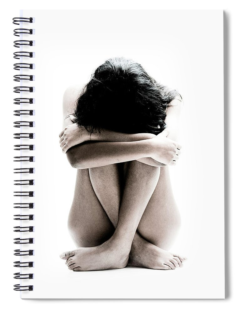 People Spiral Notebook featuring the photograph Nude Girl Sitting by Win-initiative