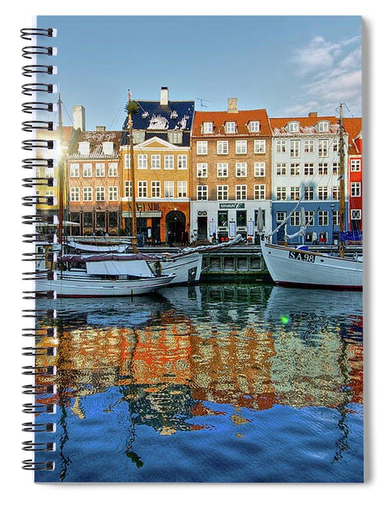 Copenhagen Spiral Notebook featuring the photograph Nyhavn, Copenhagen, Denmark by Kateryna Negoda