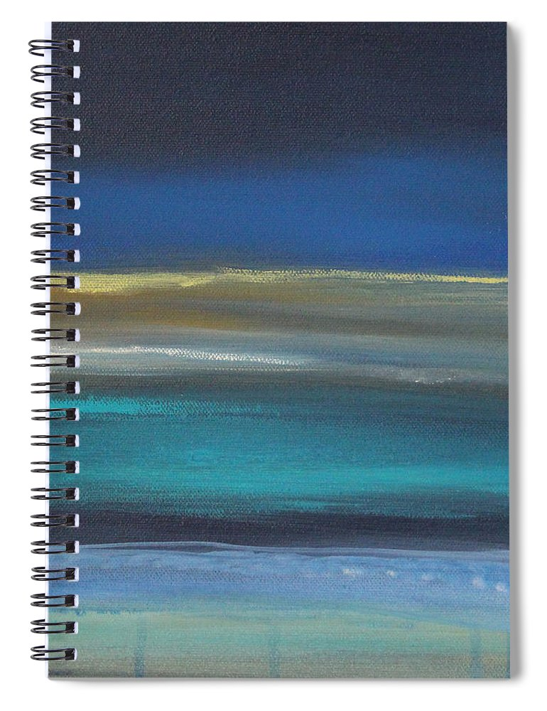 Abstract Painting Spiral Notebook featuring the painting Ocean Blue 2 by Linda Woods