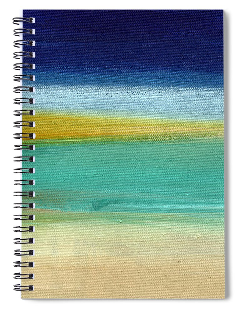 Abstract Spiral Notebook featuring the painting Ocean Blue 3- Art By Linda Woods by Linda Woods