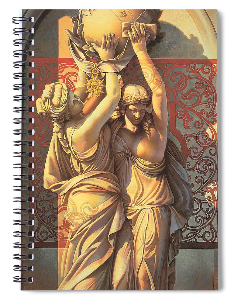 Conceptual Spiral Notebook featuring the painting Offering by Mia Tavonatti