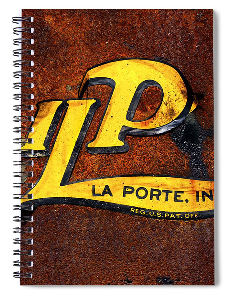Weathered Sign Spiral Notebook featuring the photograph Old And Beat - Oil Pull Sign by Paul W Faust - Impressions of Light