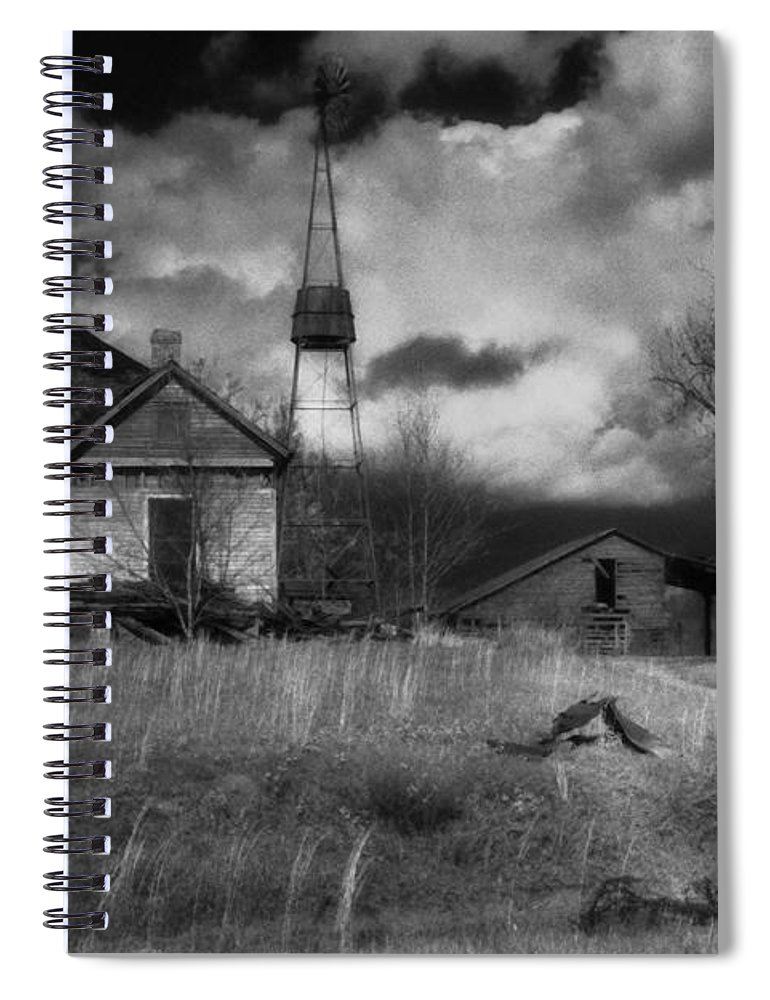 Farms Spiral Notebook featuring the photograph Old Georgia Farm by Richard Rizzo