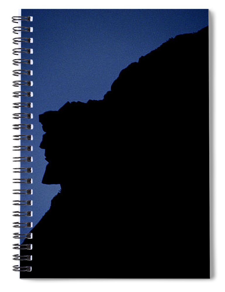 Face Spiral Notebook featuring the photograph Old Man of the Mountain - Franconia Notch State Park New Hampshire by Erin Paul Donovan