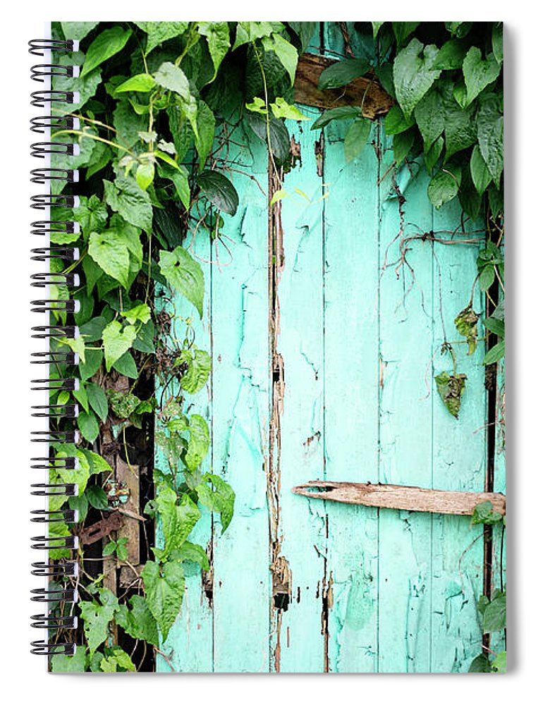 Outdoors Spiral Notebook featuring the photograph Old Wooden Door by Real444