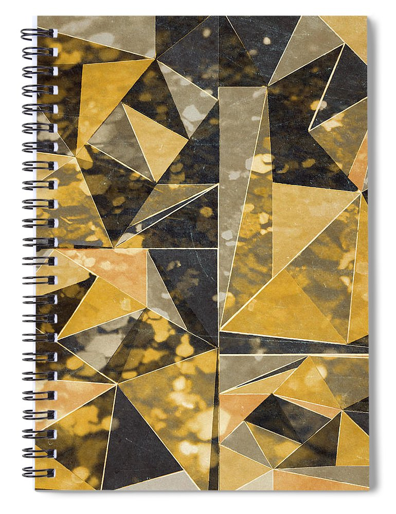 Omg Spiral Notebook featuring the digital art Omg Modern Triangles II by south Social Studio