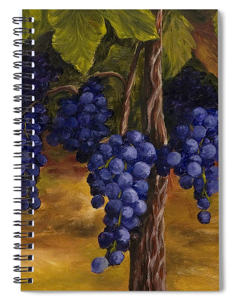Kitchen Art Spiral Notebook featuring the painting On The Vine by Darice Machel McGuire