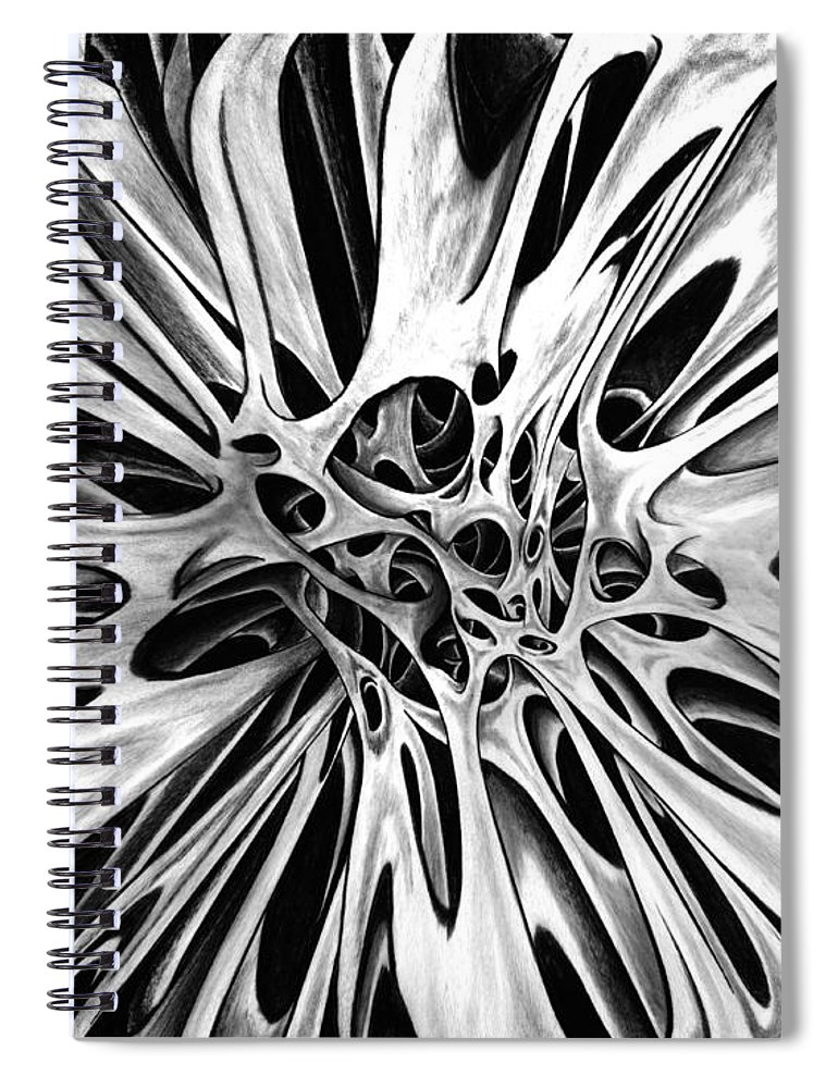 One Spiral Notebook featuring the drawing One Big Mistake 4 by Peter Piatt