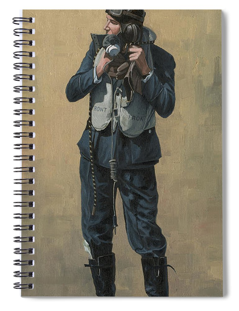 Battle Of Britain Spiral Notebook featuring the painting One of The Few by Wade Meyers