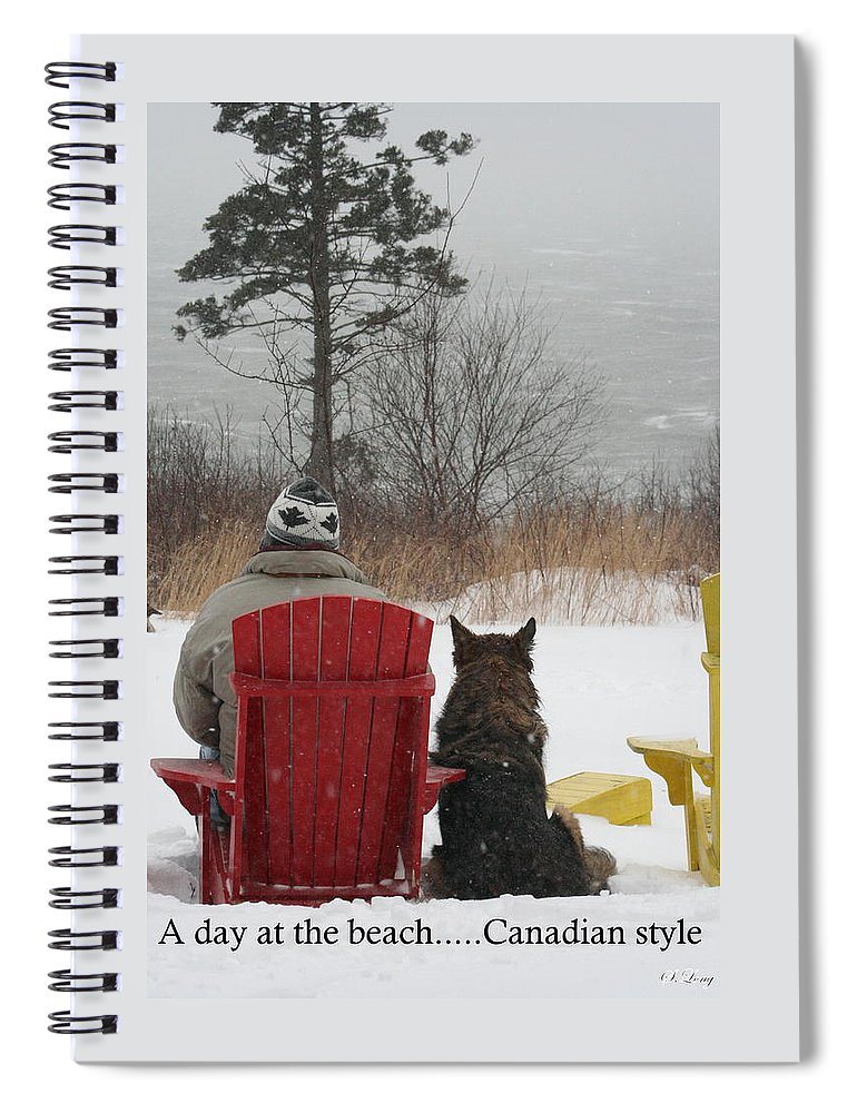 Funny Photograph Spiral Notebook featuring the photograph Only In Canada by Sue Long