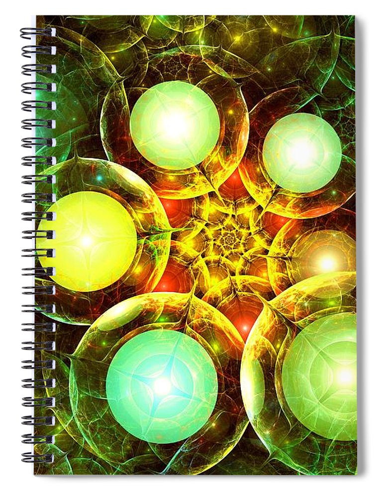 Malakhova Spiral Notebook featuring the digital art Organic by Anastasiya Malakhova