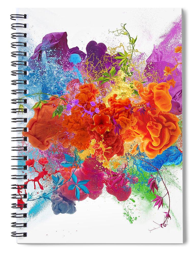 Material Spiral Notebook featuring the digital art Orgasm by Vizerskaya