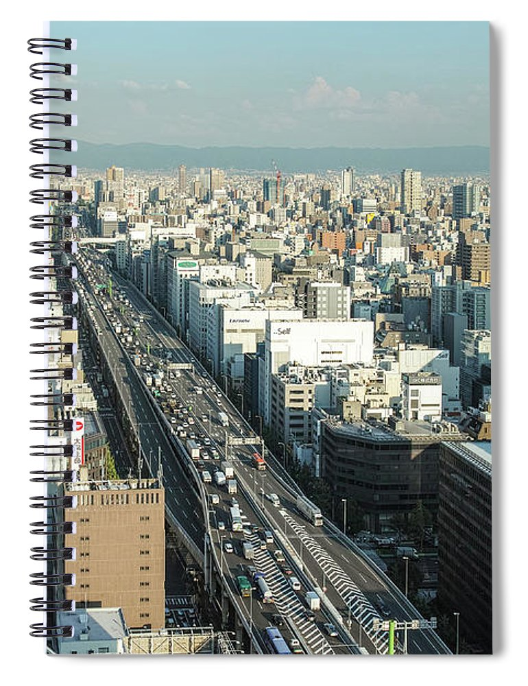 Osaka Prefecture Spiral Notebook featuring the photograph Osaka Cityscape by I Love Photo And Apple.