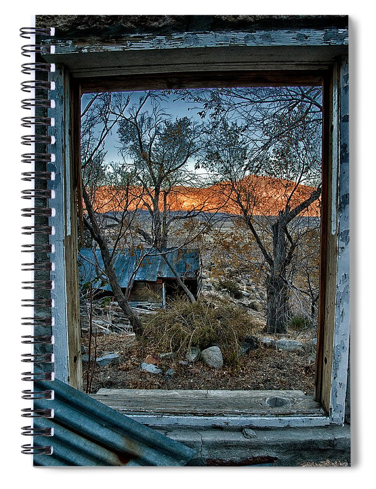 Wood Spiral Notebook featuring the photograph Out The Window by Cat Connor