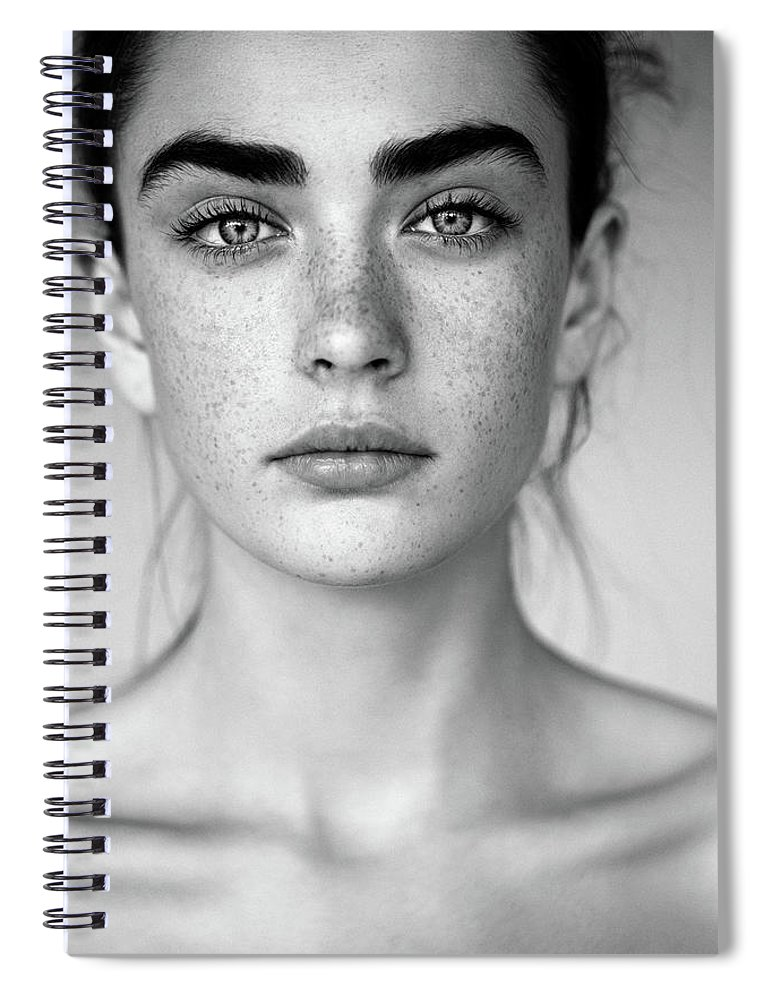 People Spiral Notebook featuring the photograph Outdoor Shot Of Young Beautiful Woman by Coffeeandmilk