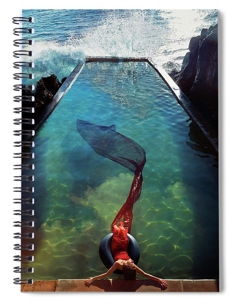 Human Arm Spiral Notebook featuring the photograph Pacific Islander Woman In Mermaid by Colin Anderson Productions Pty Ltd