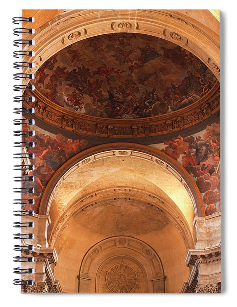 Arch Spiral Notebook featuring the photograph Painted Ceiling Inside The Cathedral At by Julian Elliott Photography