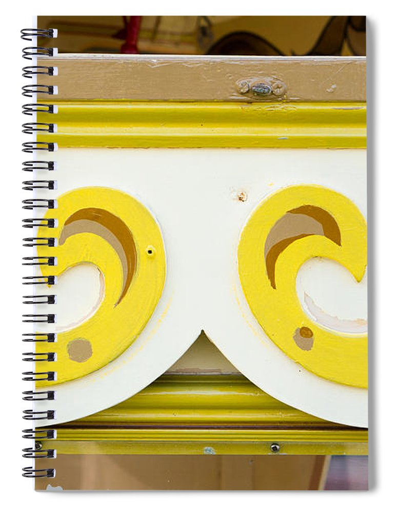 Artwork Spiral Notebook featuring the photograph Painted Wood Pattern by Tom Gowanlock