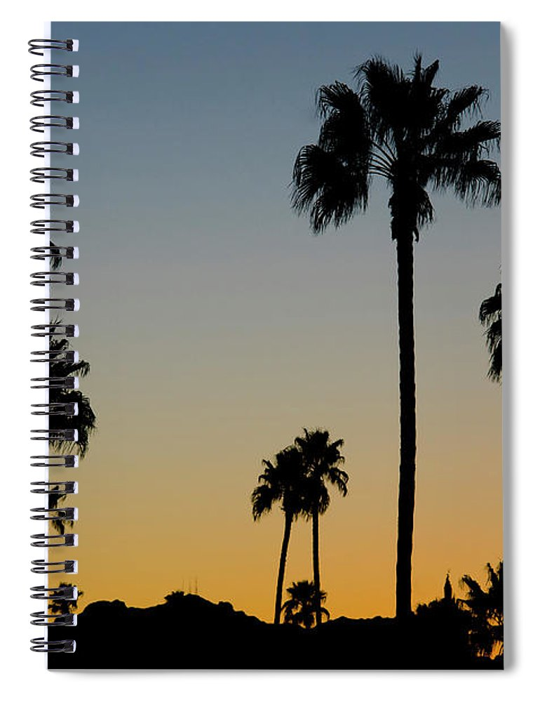 Scenics Spiral Notebook featuring the photograph Palm Trees At Sunset by Chapin31
