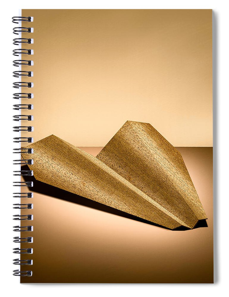 Aircraft Spiral Notebook featuring the photograph Paper Airplanes Of Wood 6 by YoPedro