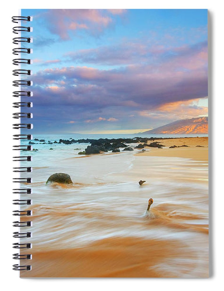 Sunrise Spiral Notebook featuring the photograph Paradise Dawn by Mike Dawson
