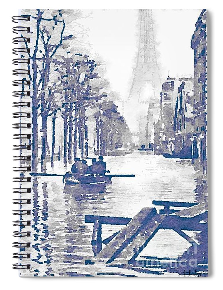 paris 1910 great flood of paris spiral notebook for sale by helge