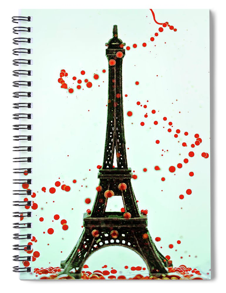 Replica Eiffel Tower Spiral Notebook featuring the photograph Paris by Dina Belenko Photography