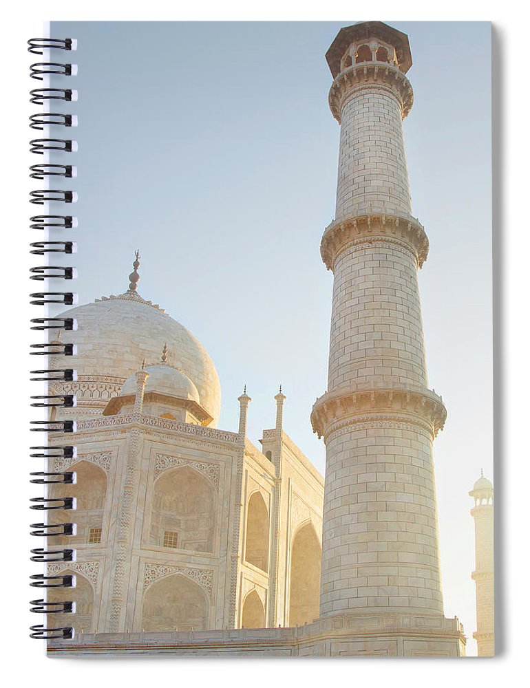 Arch Spiral Notebook featuring the photograph Partial View Taj Mahal by Grant Faint
