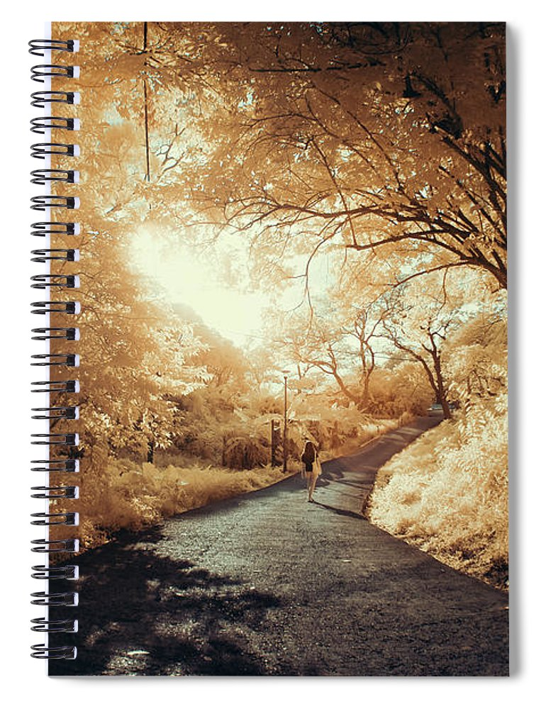 Shadow Spiral Notebook featuring the photograph Pathway To Wonderland by D3sign