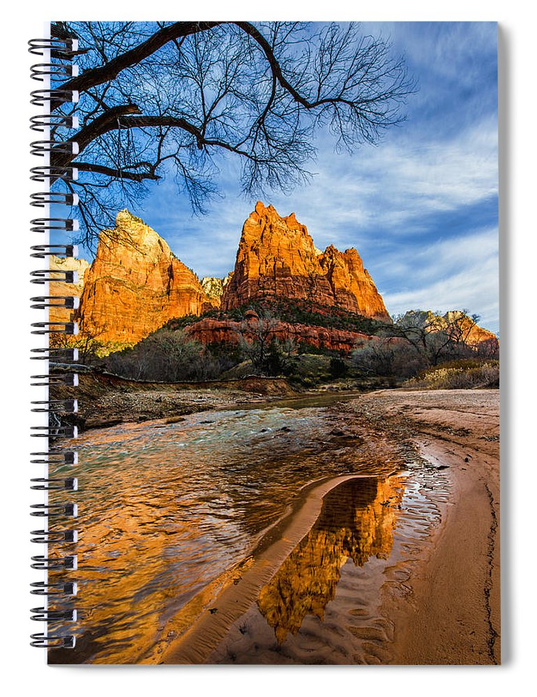 Patriarchs Of Zion Spiral Notebook featuring the photograph Patriarchs Of Zion by Chad Dutson