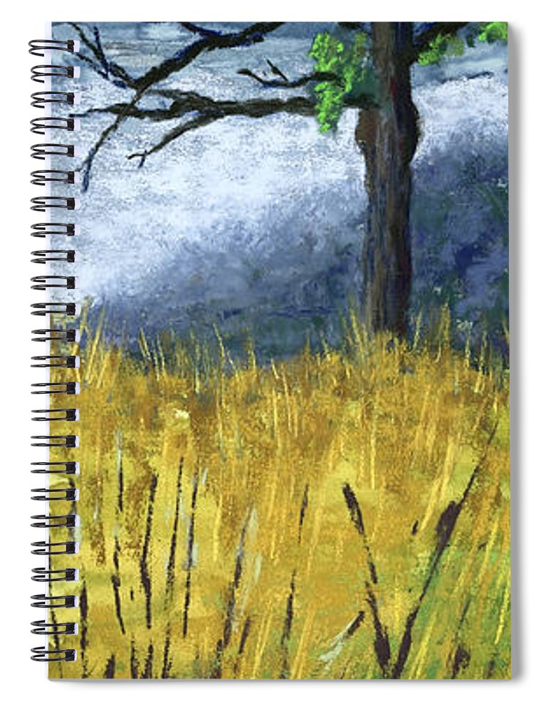 Trees Spiral Notebook featuring the painting Pauls Tree by Garry McMichael