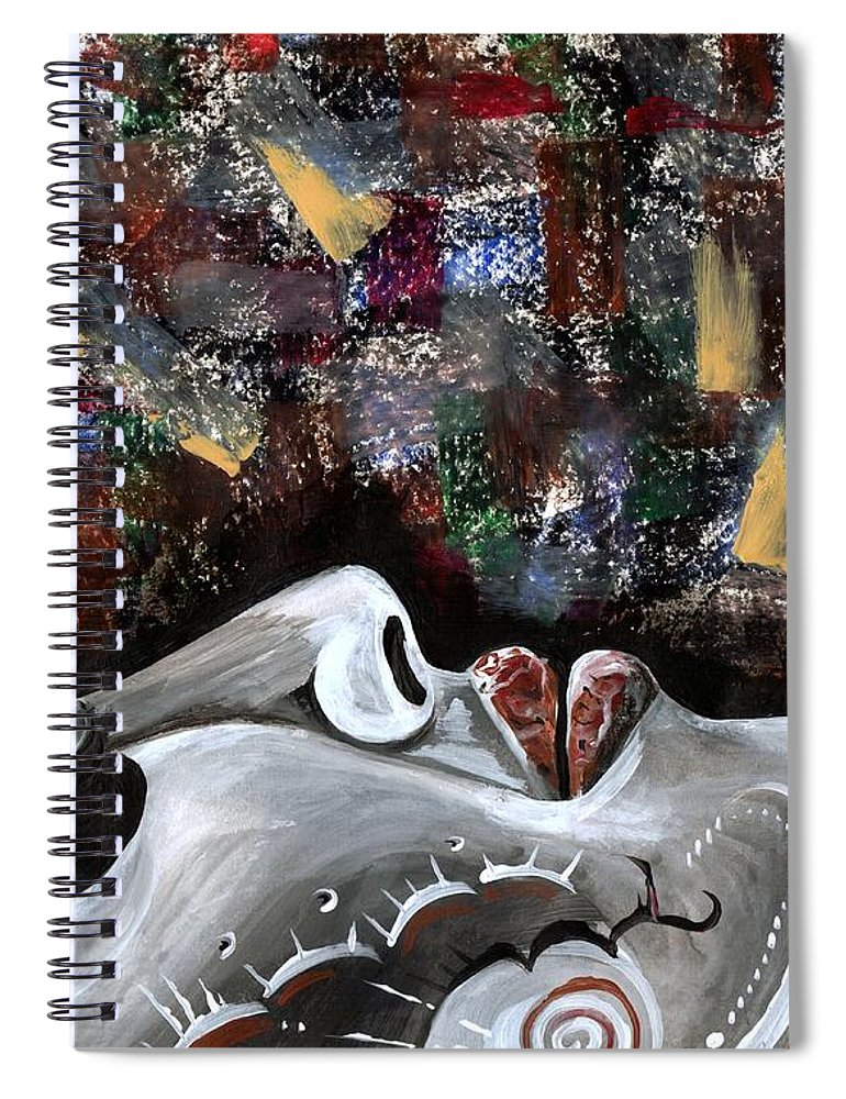 Art Spiral Notebook featuring the photograph Peace Amidst Turmoil by Artist RiA