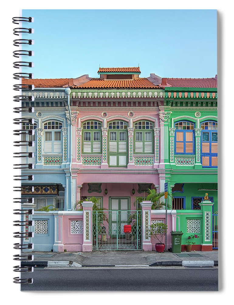 Tranquility Spiral Notebook featuring the photograph Peranakan Architecture by Edward Tian