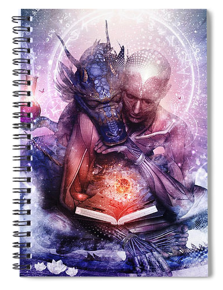Spiritual Spiral Notebook featuring the digital art Perhaps The Dreams Are Of Soulmates by Cameron Gray