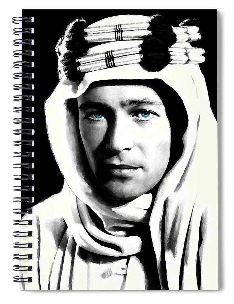Peter O'toole Spiral Notebook featuring the digital art Peter O'Toole Portrait by Gabriel T Toro