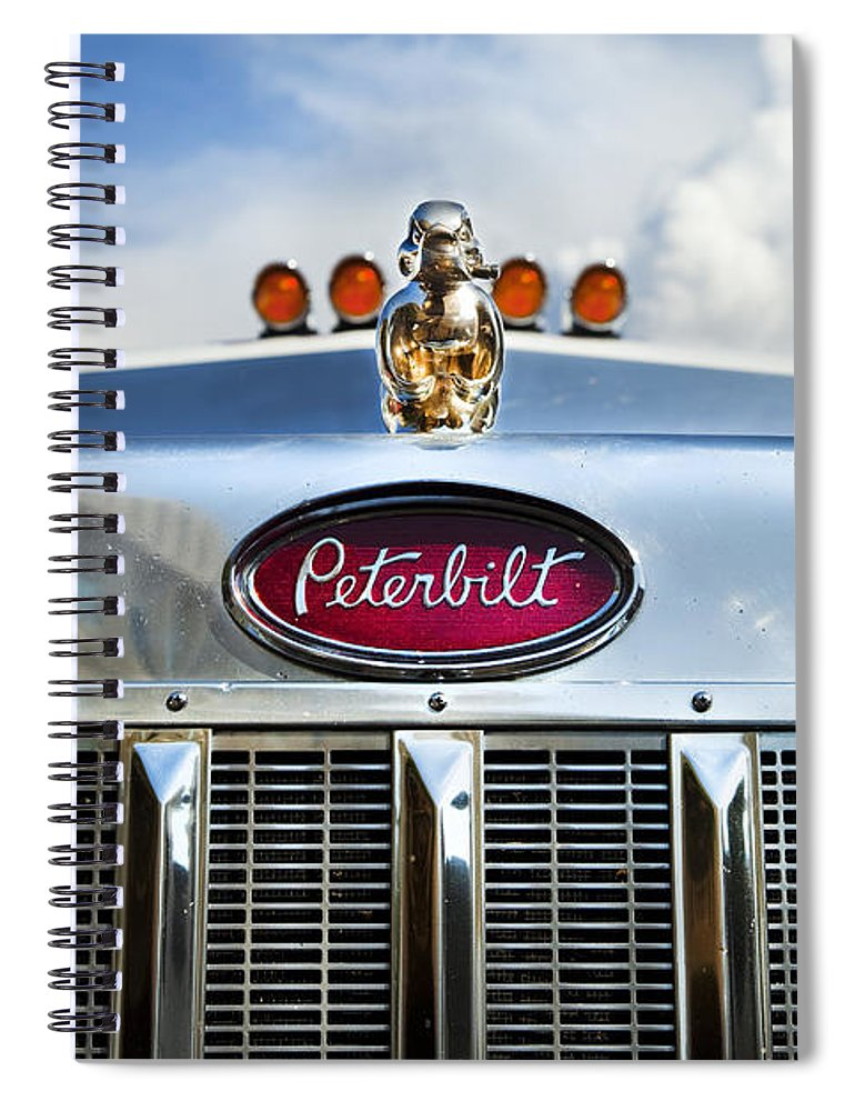 Truck Spiral Notebook featuring the photograph Peterbilt by Theresa Tahara
