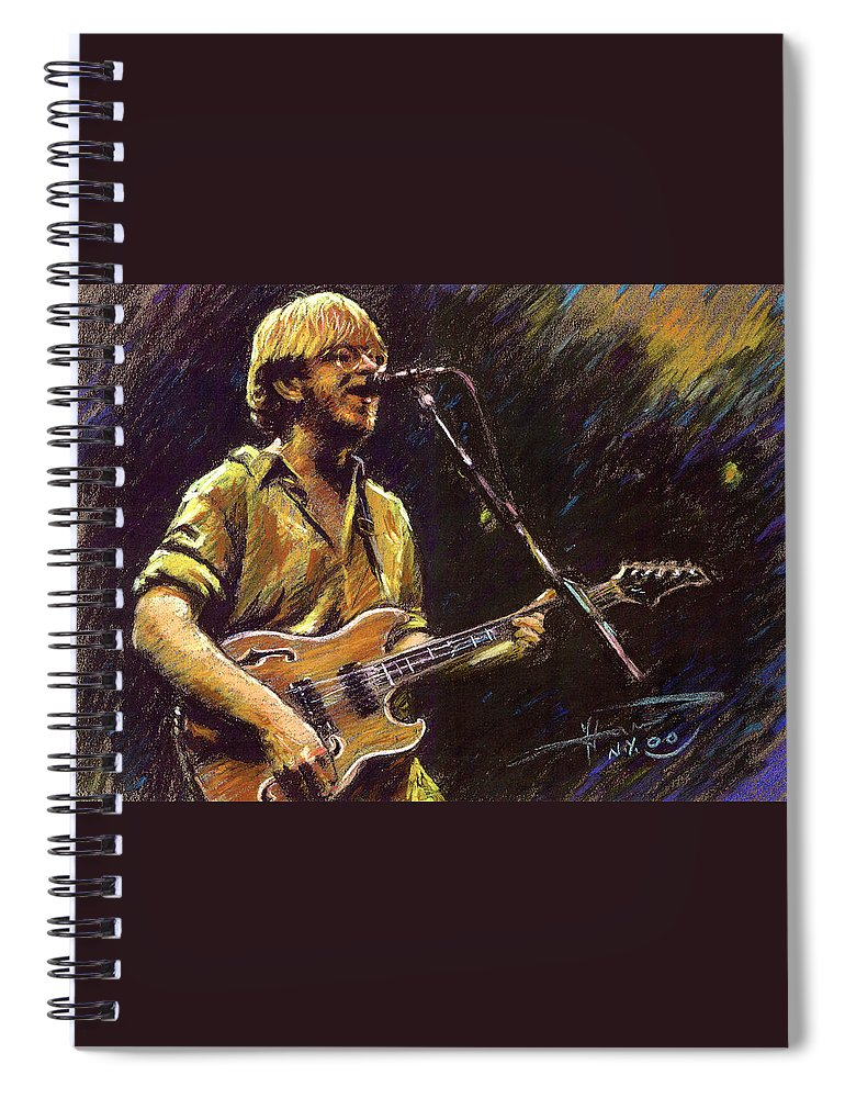 Phish Spiral Notebook featuring the pastel Phish by Ylli Haruni