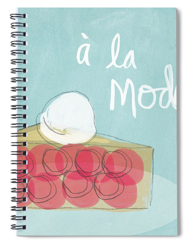 Pie Spiral Notebook featuring the painting Pie A La Mode by Linda Woods