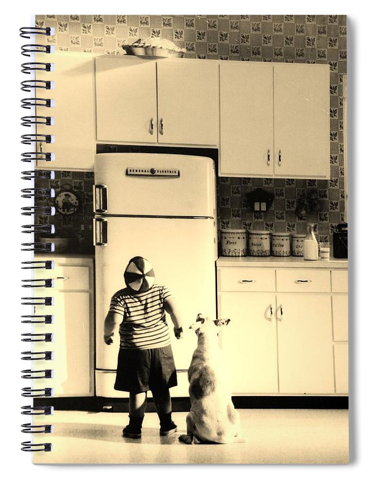 Pie Spiral Notebook featuring the photograph PIE IN THE SKY in SEPIA by Rob Hans
