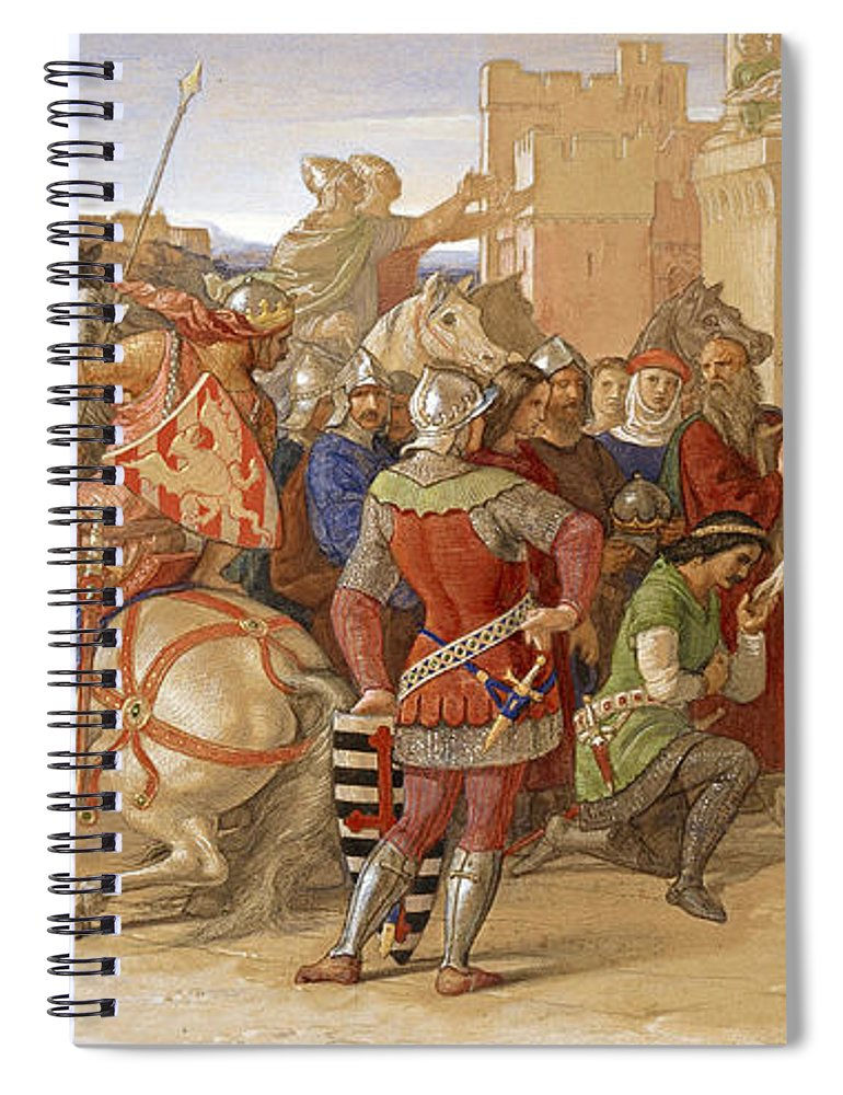 Piety The Knights Of The Round Table About To Depart In Quest Of The Holy  Grail Spiral Notebook