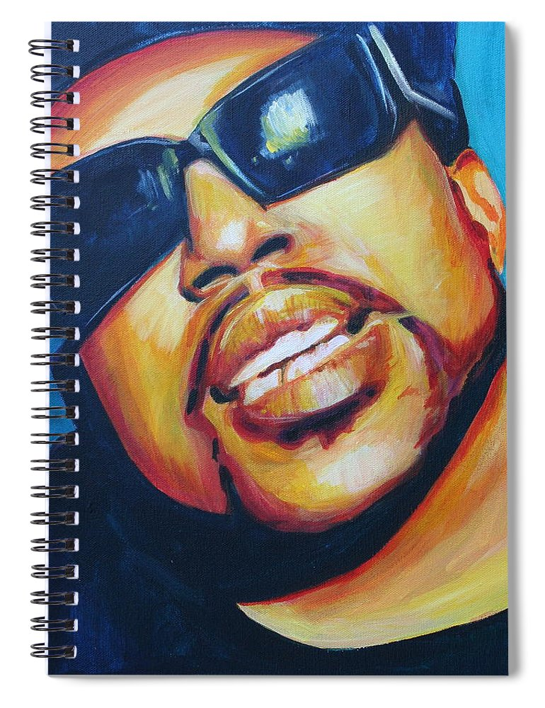 Spiral Notebook featuring the painting Pimp C by Kate Fortin