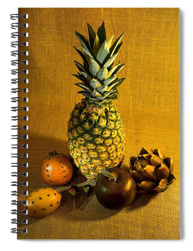 Pineapple Spiral Notebook featuring the photograph Pineapple Still Life by Douglas Barnett