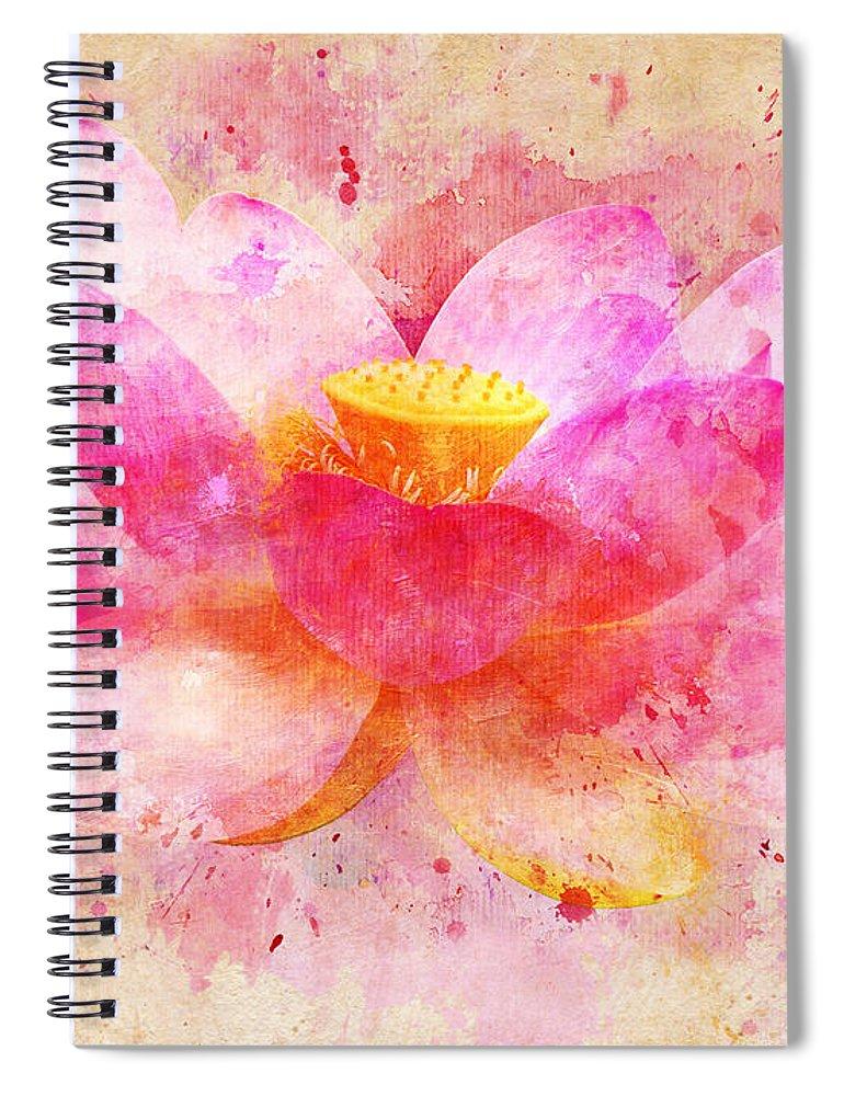 Pink lotus flower abstract artwork spiral notebook for sale by nikki lotus spiral notebook featuring the digital art pink lotus flower abstract artwork by nikki marie smith mightylinksfo