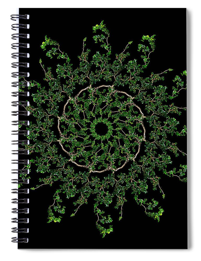 Pinwheel Spiral Notebook featuring the photograph Pinwheel I by Debra and Dave Vanderlaan